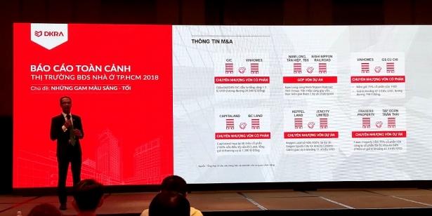 Ong Nguyen Hoang trinh bay Bao cao toan canh thi truong bat dong san nha o TP HCM 2018 cua DDRA