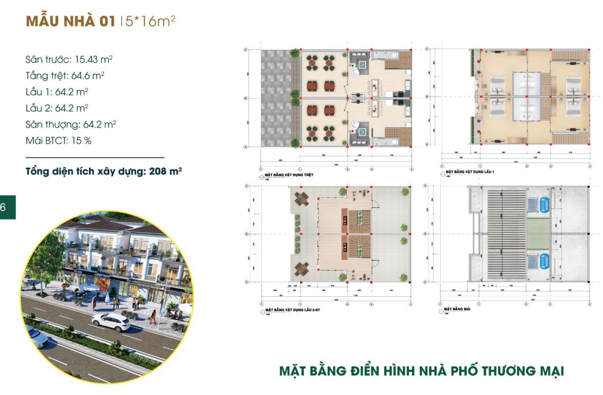 Khám phá thiết kế nhà phố Phúc An City thực tế